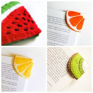 Felt-fruit-corner-bookmarks