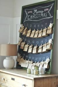 Adventni koledar s papirnatimi vrečkami